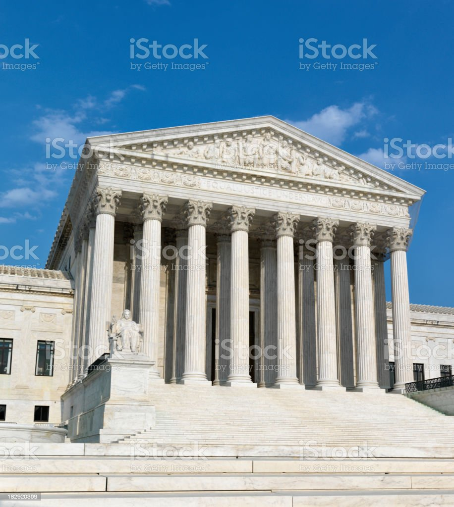 US Supreme Court, Washington DC stock photo