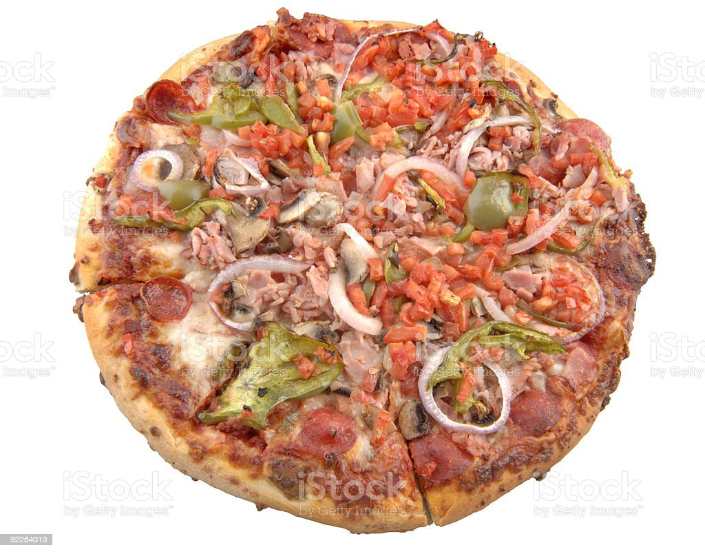 Supreme Pizza, isolated. royalty-free stock photo