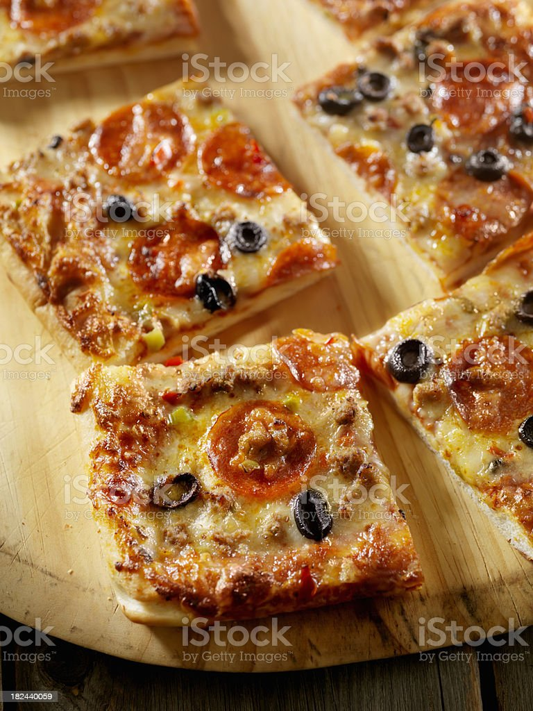 Supreme Pizza royalty-free stock photo