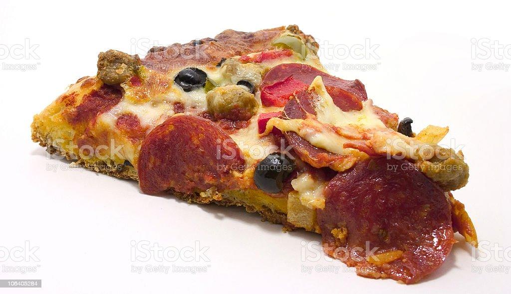 Supreme Pizza slice royalty-free stock photo