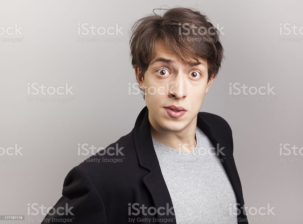 Suprised young man royalty-free stock photo