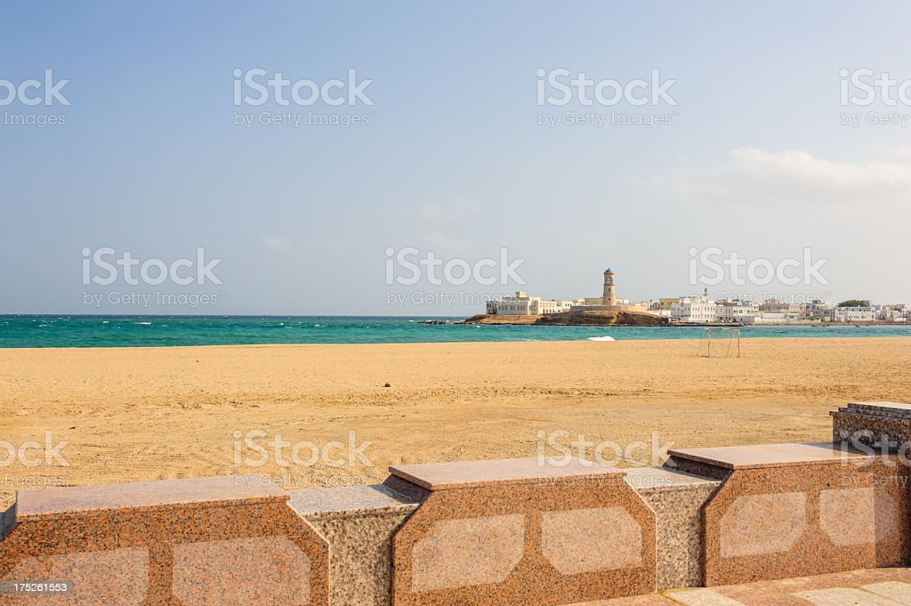Sur lighthouse stock photo