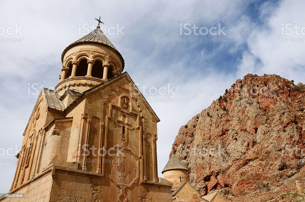 Surb Astvatsatsin (Holy Mother of God) church in Noravank, Armenia stock photo