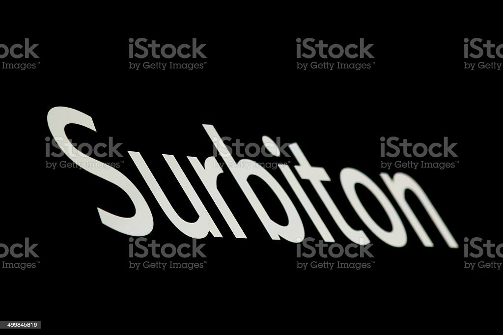 Surbiton stock photo