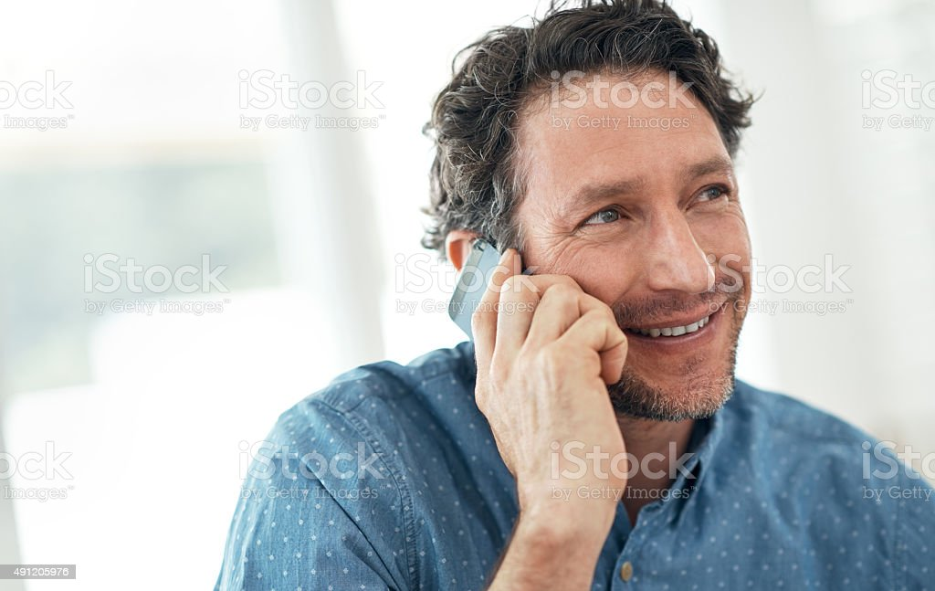 Sure, I'll be home all day stock photo