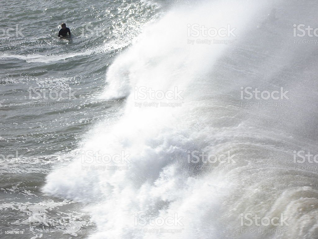 Surf and Sea royalty-free stock photo