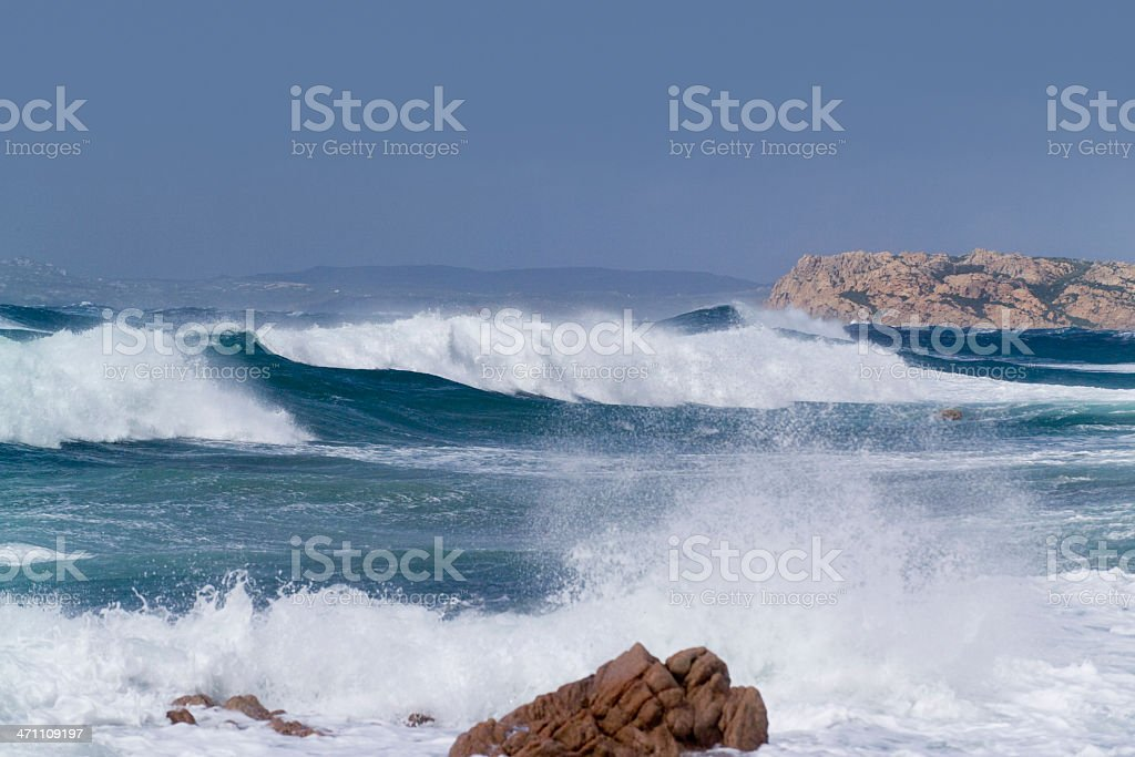 Surf and waves royalty-free stock photo