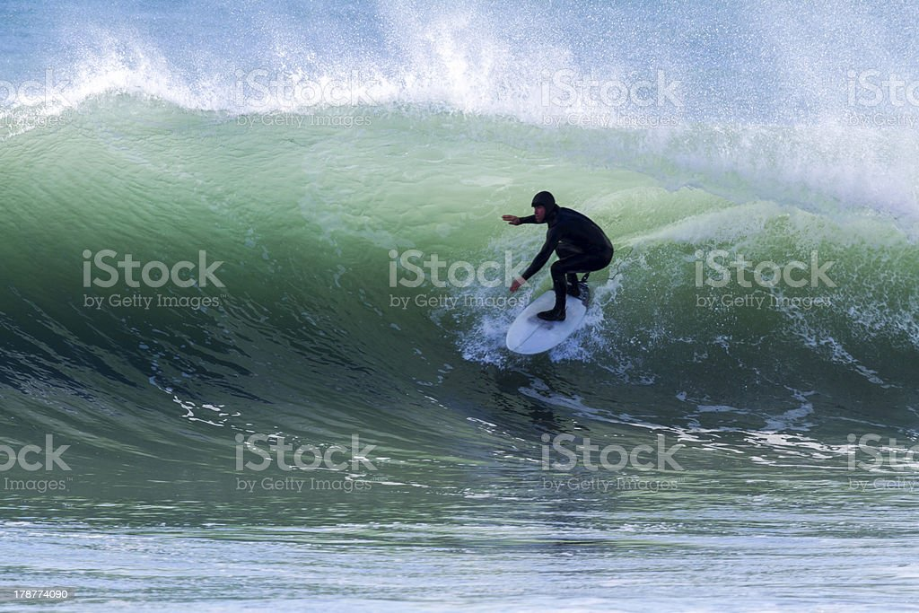 Surf barrel stock photo