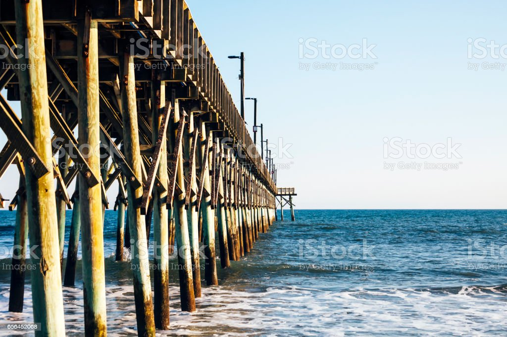 Surf City Pier, North Carolina. stock photo