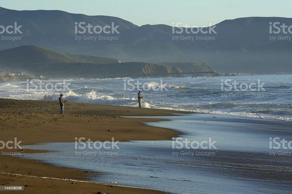 Surf Fishing stock photo
