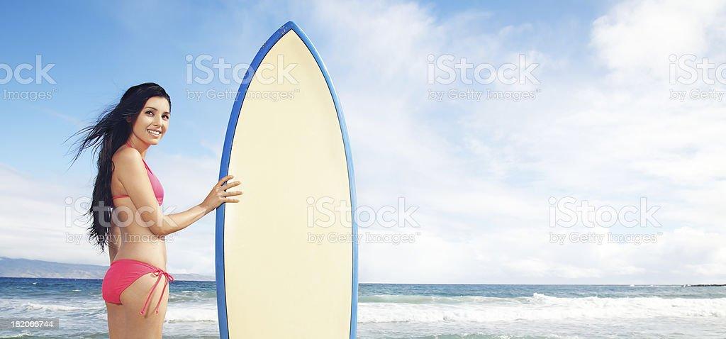 Surf Girl royalty-free stock photo