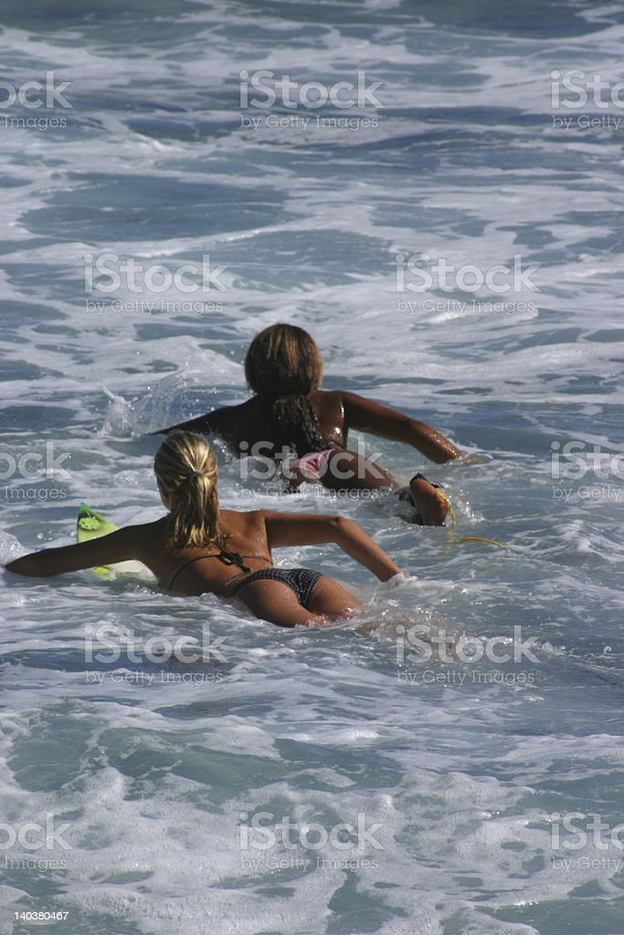 surf girl's 2 royalty-free stock photo