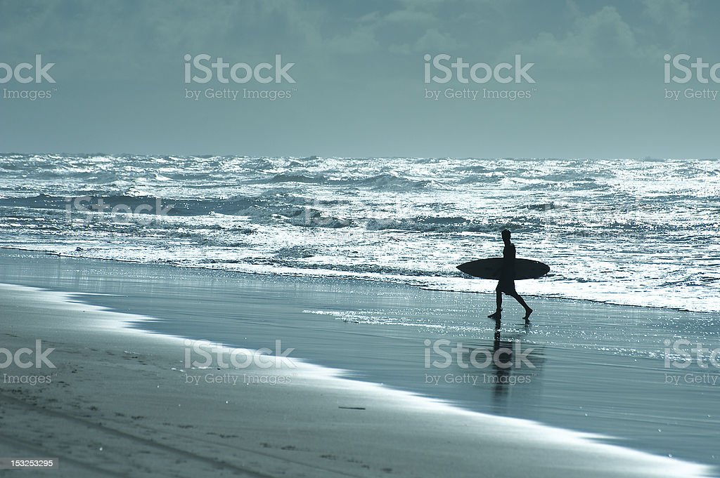 Surf in Brazilian beach stock photo