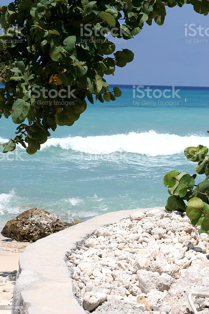 Surf in Grand Cayman royalty-free stock photo