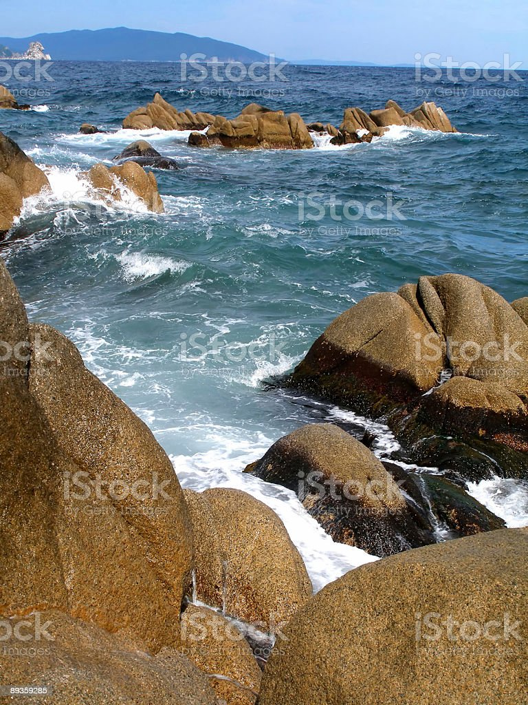 Surf in Sea of Japan stock photo