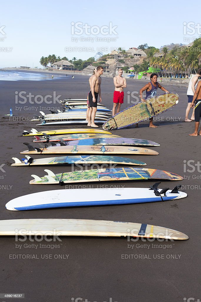 Surf lesson royalty-free stock photo
