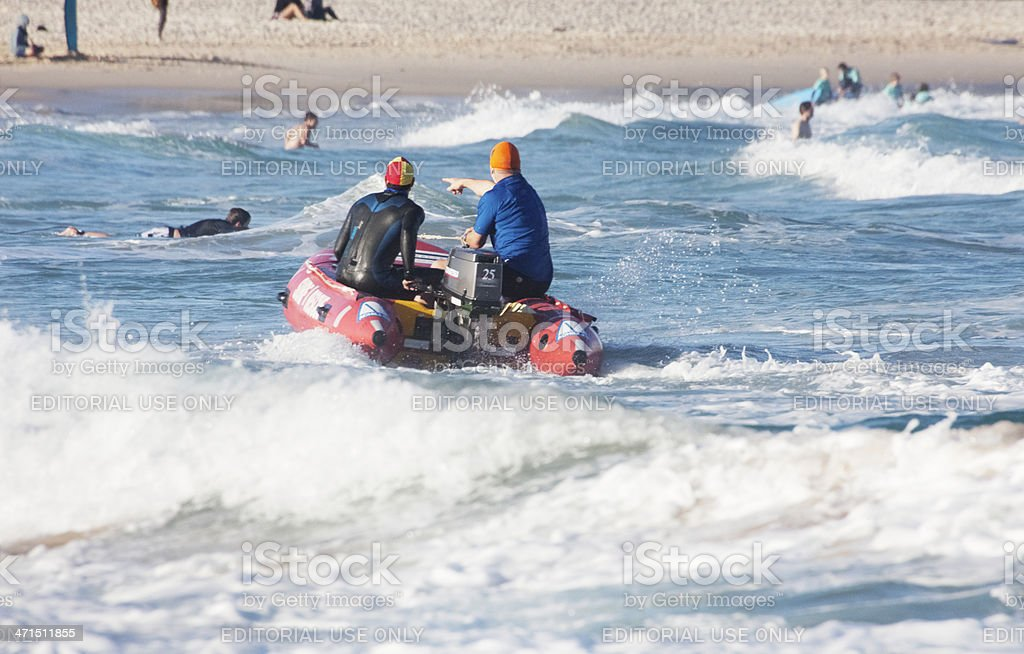 Surf life savers at Bondi Beach, Australia royalty-free stock photo