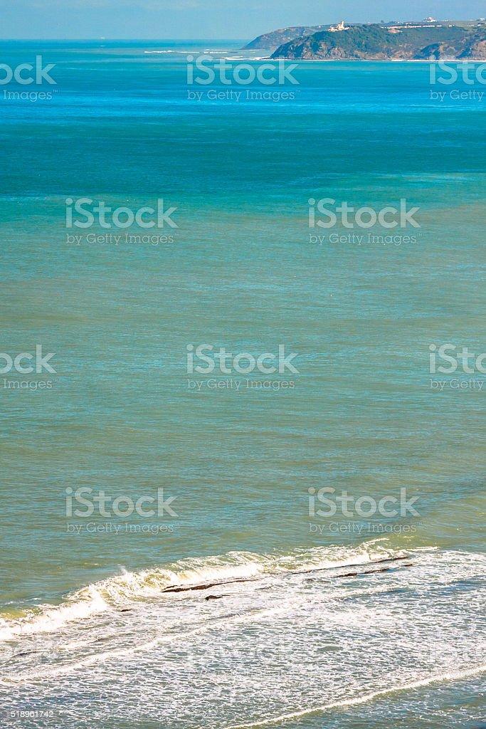 Surf of Strait of Gibraltar stock photo