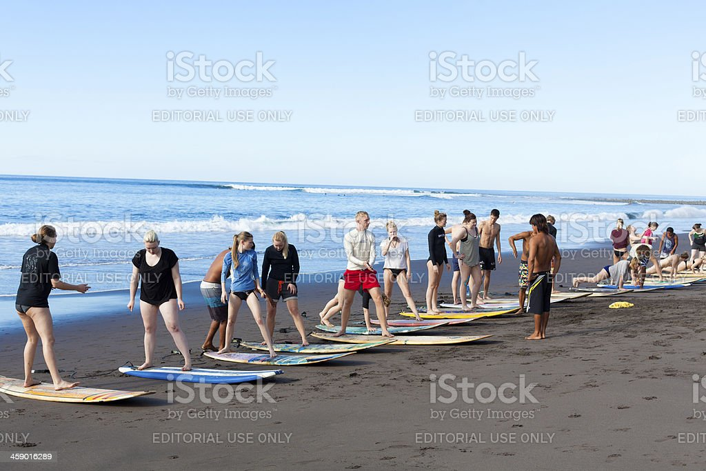 Surf practicing royalty-free stock photo
