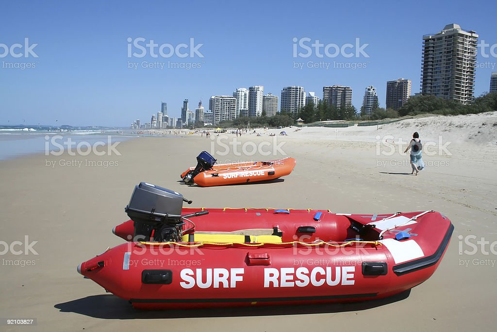 Surf Rescue Boats royalty-free stock photo