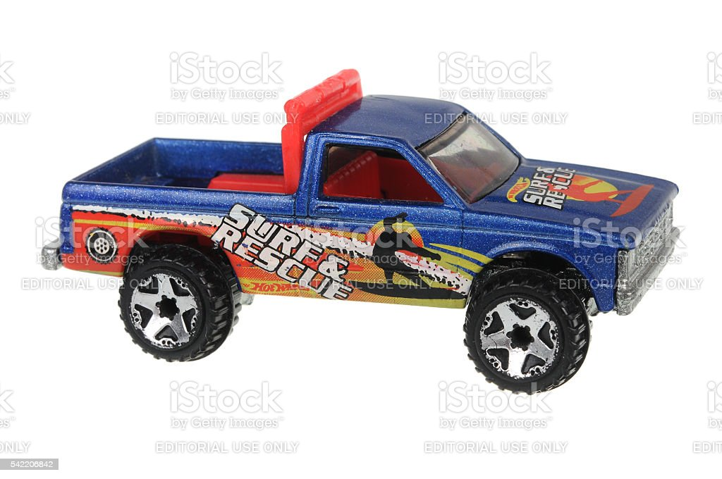 1982 Surf & Rescue Hot Wheels Diecast Toy Car stock photo