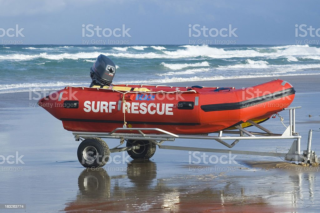 Surf Rescue stock photo