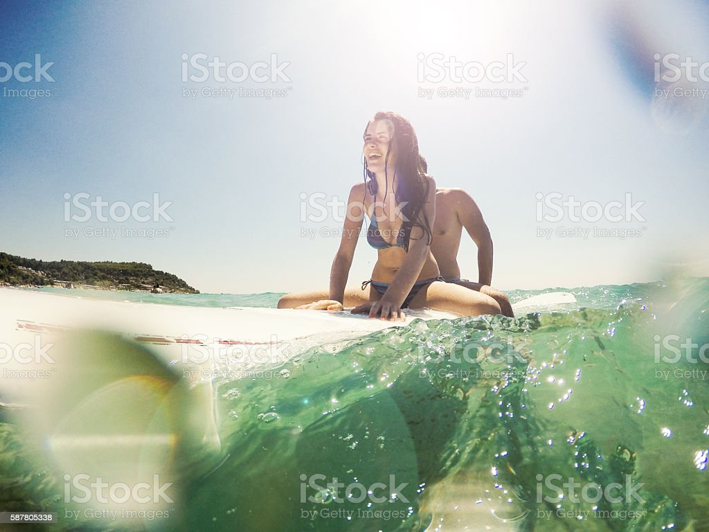 Surf riding stock photo