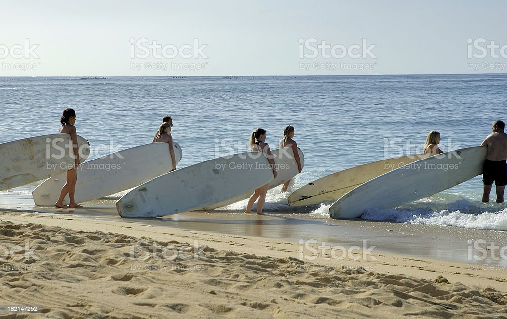 Surf School royalty-free stock photo