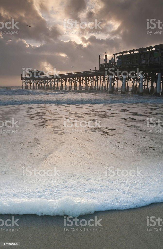 Surf sunrise Cocoa Beach Florida royalty-free stock photo