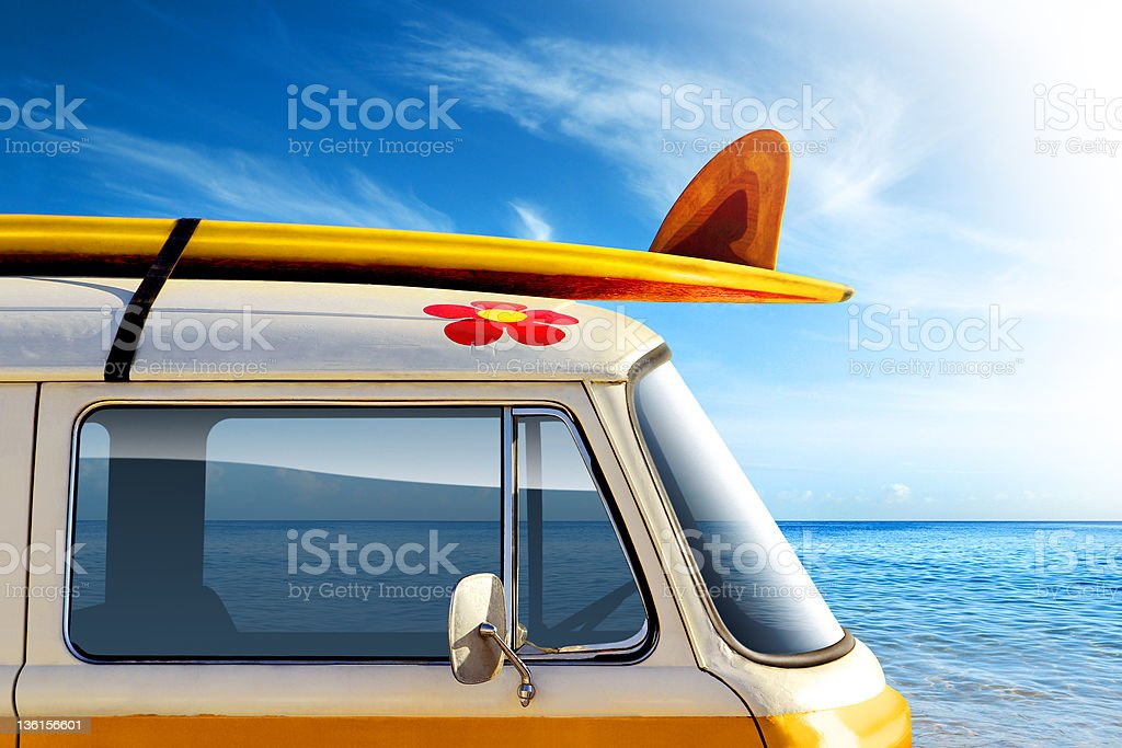 Surf Van stock photo
