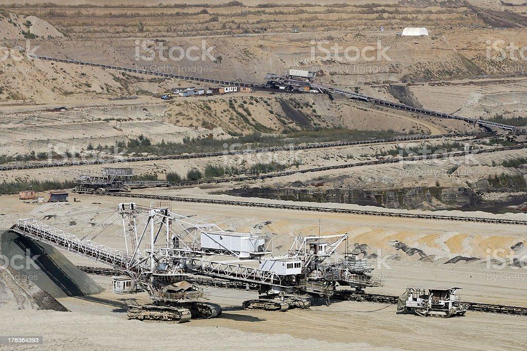surface coal mine stock photo