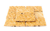 Surface covered with cracker cookies