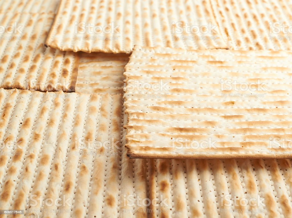 Surface covered with matza flatbread stock photo