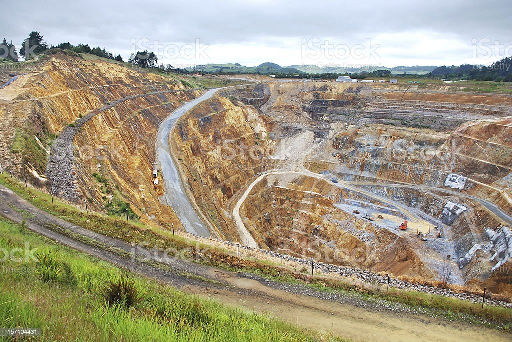 Surface gold mine stock photo