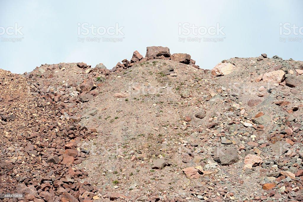 surface mine quarry stock photo