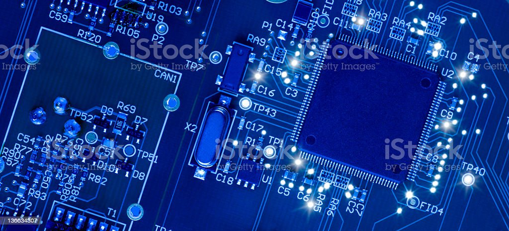 Surface Mount Technology stock photo