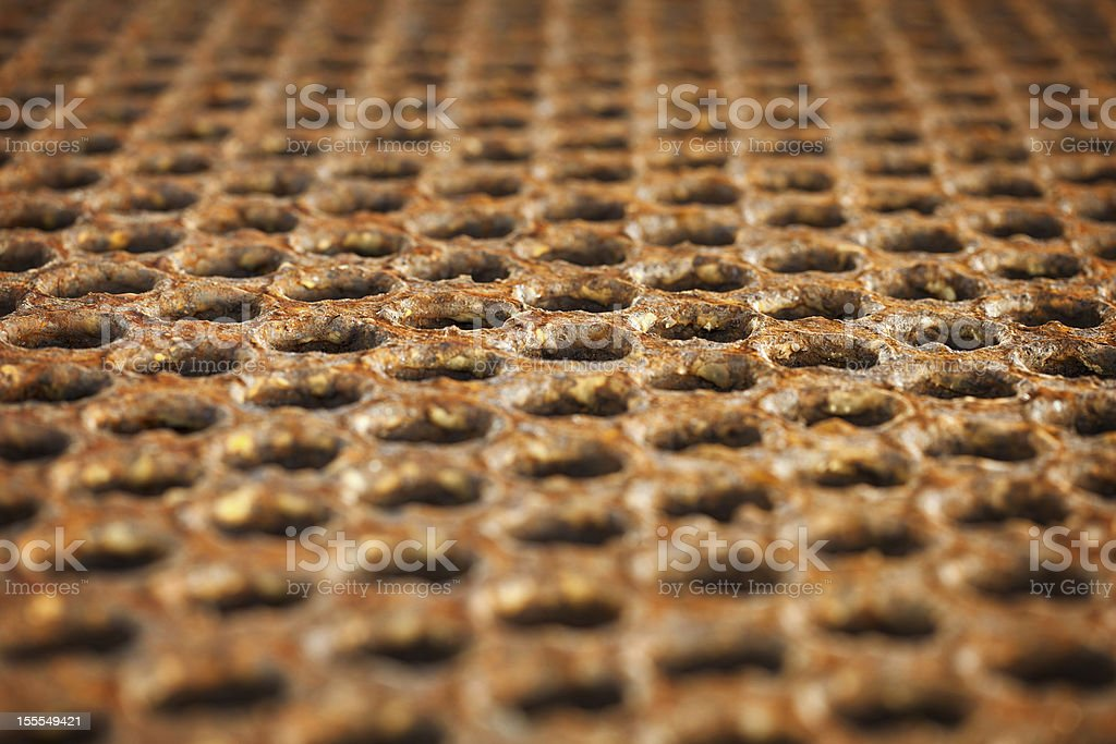 Surface of a rusty metal floor royalty-free stock photo