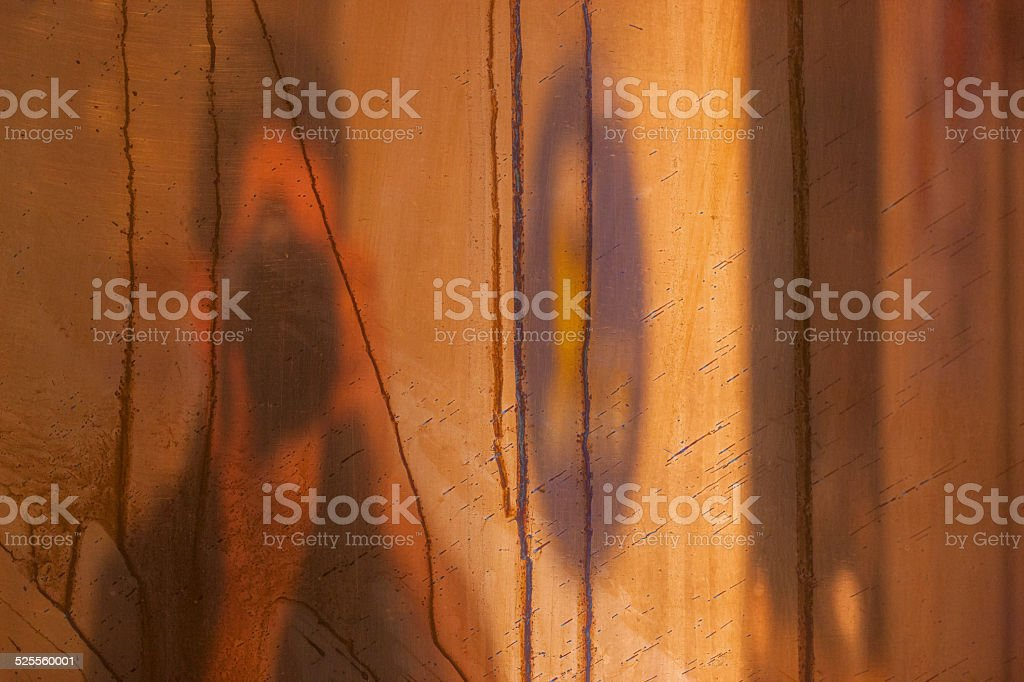Surface of copper with reflection royalty-free stock photo