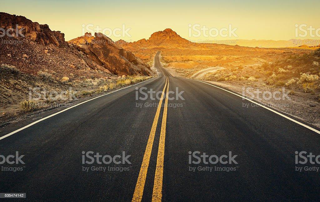 Surface of Driveway, Nevada stock photo