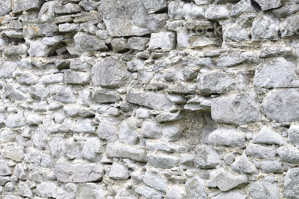 Powierzchnia vintage Jasny szary Kamień Ściana z stary budynek zbiór zdjęć royalty-free