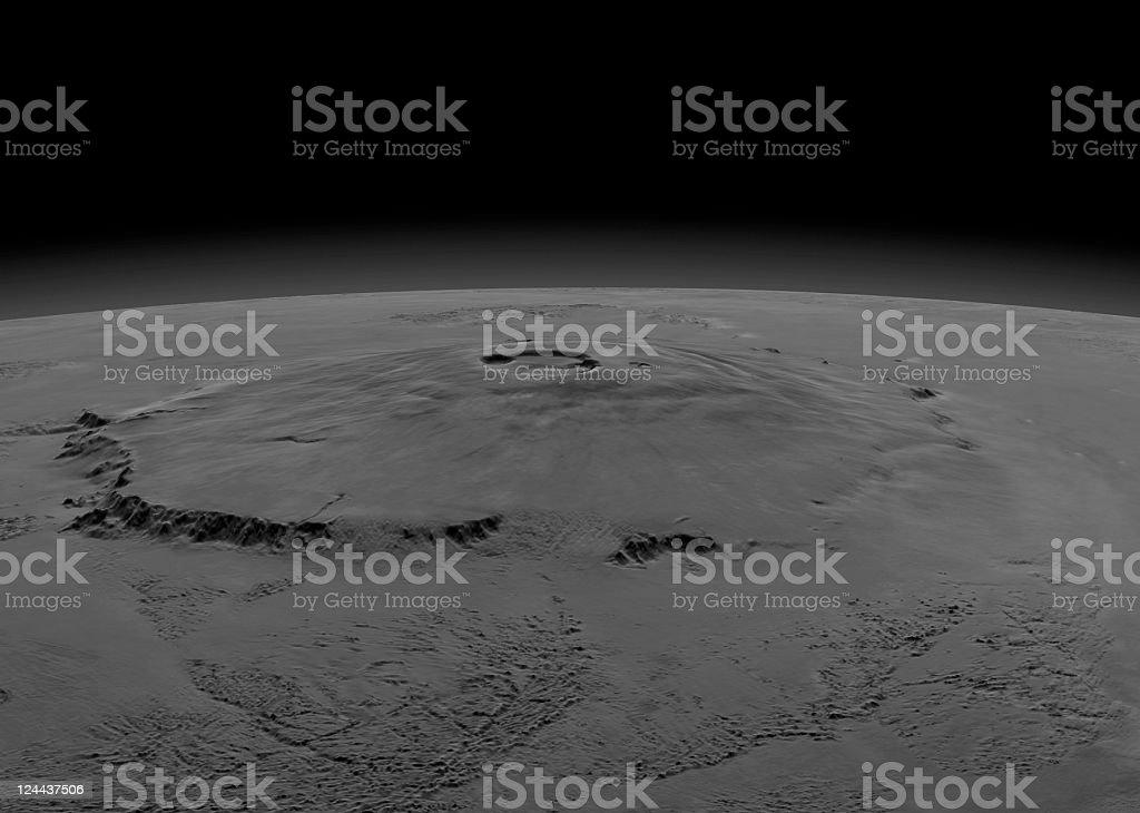 Surface of Mars stock photo