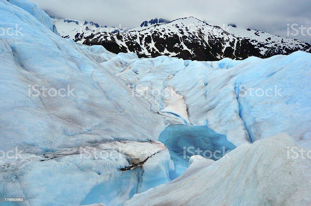 Surface of Mendenhall Glacier Alaska royalty-free stock photo