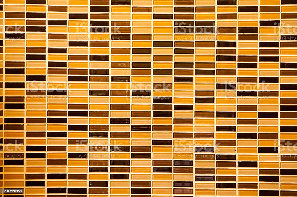 Surface of Mosaic in ancient style stacked. stock photo