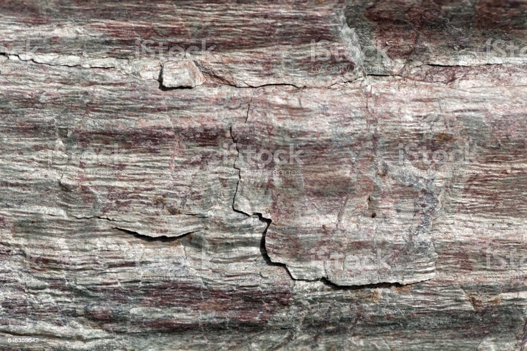 Surface of Phyllite schists stock photo