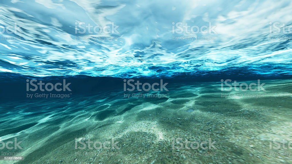 Surface of sand under water stock photo