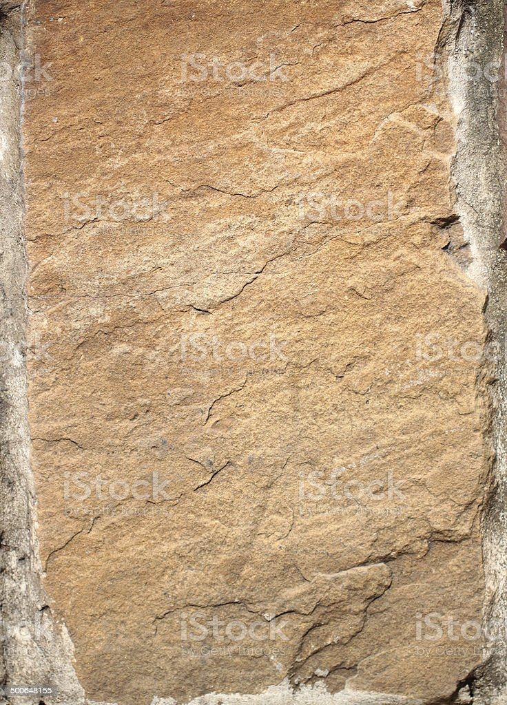 Surface of sandstone. stock photo