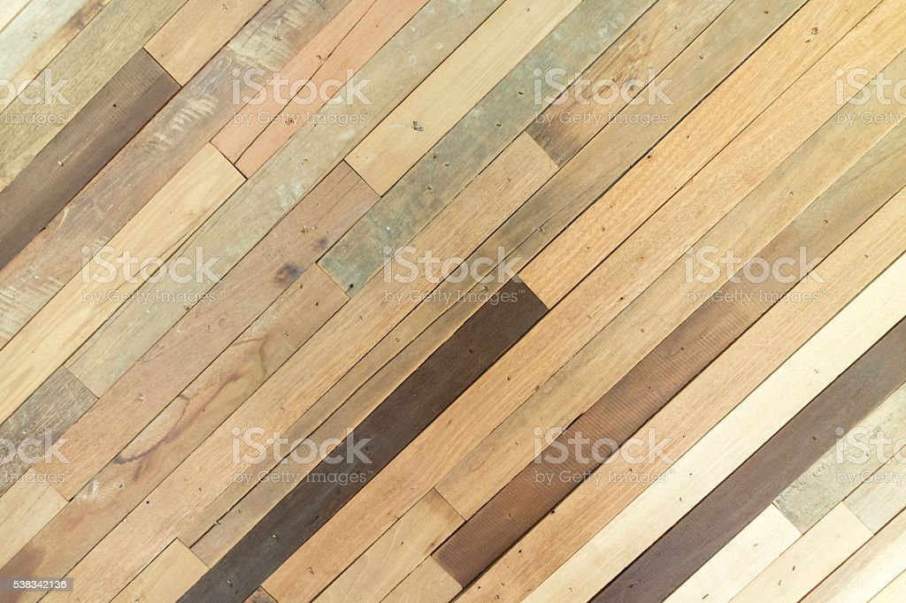 surface of slant wooden wall for use as abstract background stock photo