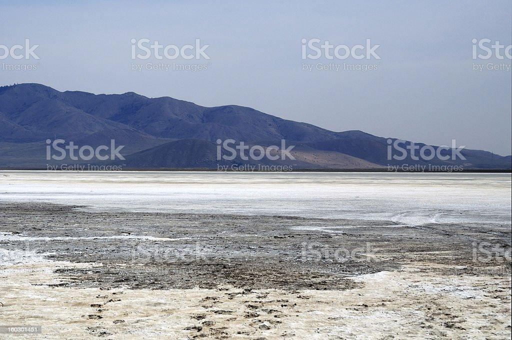 surface of the salt lake, Mongolia. royalty-free stock photo