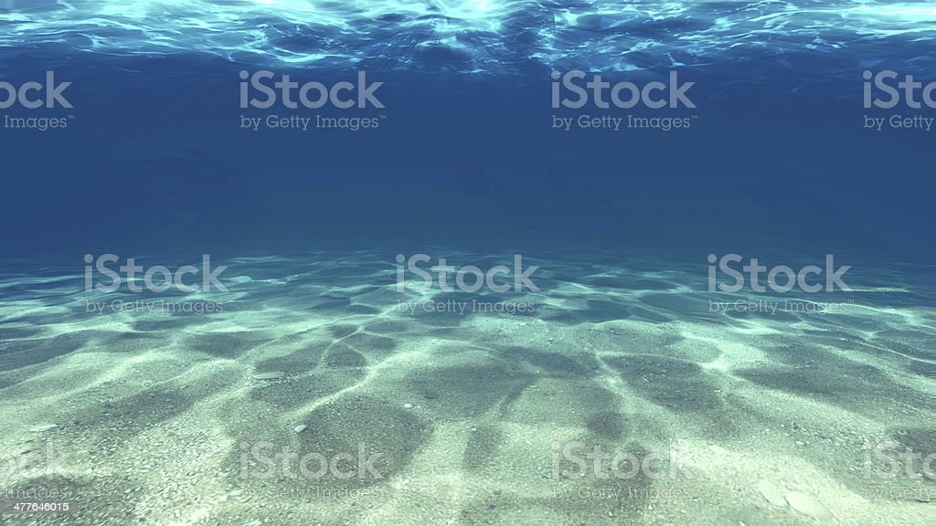 Surface of the sand under water stock photo