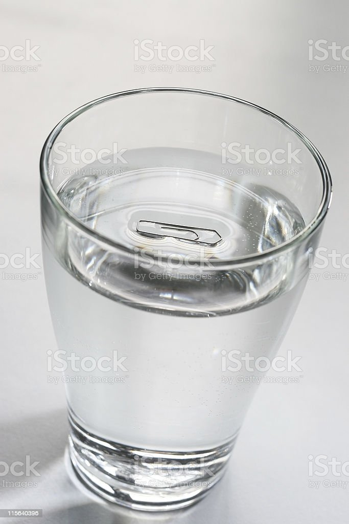 Surface tension stock photo